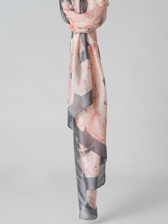 Шарф 100% шелк, цвет серый, арт. 14005990  - цена 1070 руб.  - магазин TOTOGROUP