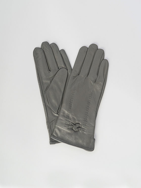 Перчатки кожа , цвет серый, арт. 14006083  - цена 1260 руб.  - магазин TOTOGROUP