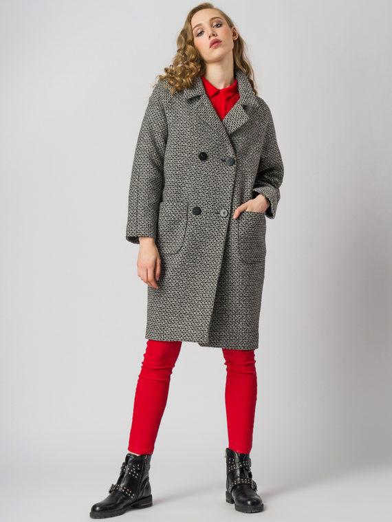 Текстильное пальто 30%шерсть, 70% п.э, цвет серый, арт. 14006171  - цена 4490 руб.  - магазин TOTOGROUP