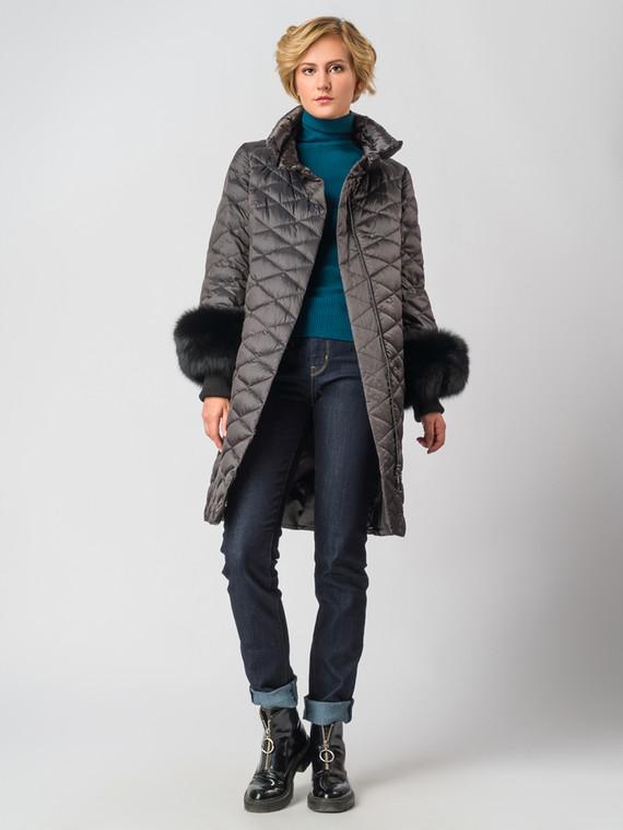 Пуховик текстиль, цвет темно-коричневый, арт. 14006347  - цена 26990 руб.  - магазин TOTOGROUP