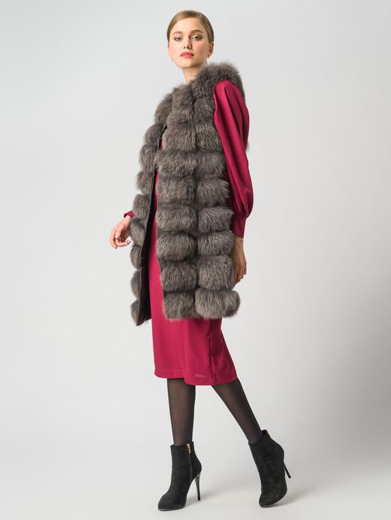 Меховой жилет мех песец, цвет коричневый, арт. 14006360  - цена 19990 руб.  - магазин TOTOGROUP