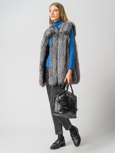 Меховой жилет мех чернобурка, цвет серый, арт. 14006380  - цена 19990 руб.  - магазин TOTOGROUP