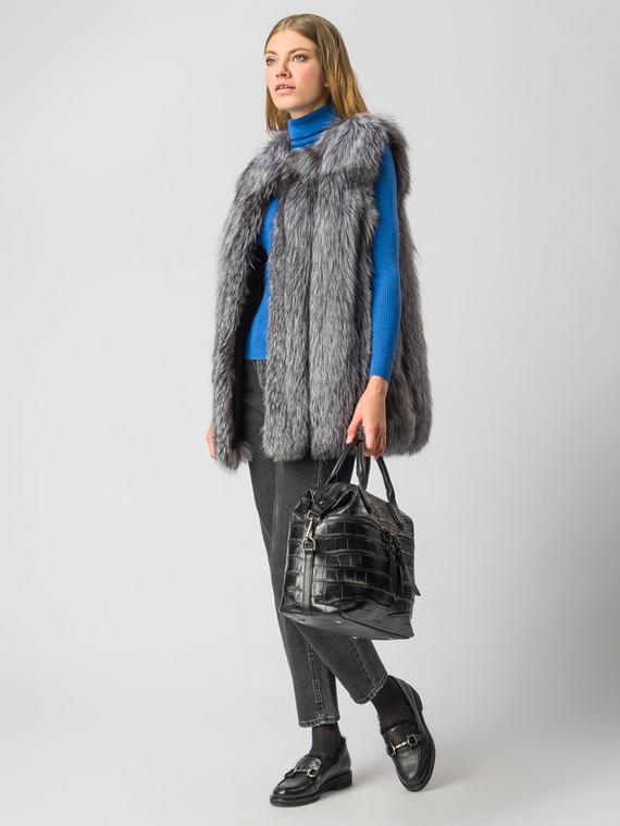 Меховой жилет мех чернобурка, цвет серый, арт. 14006380  - цена 25590 руб.  - магазин TOTOGROUP