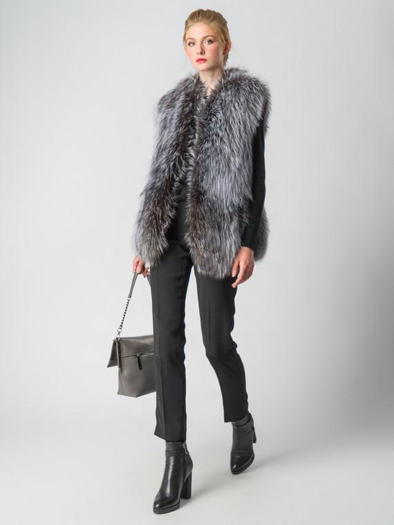 Меховой жилет мех чернобурка, цвет серый, арт. 14006401  - цена 26990 руб.  - магазин TOTOGROUP