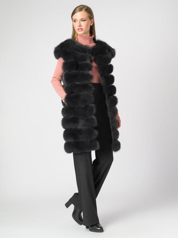 Меховой жилет мех песец, цвет темно-серый, арт. 14006402  - цена 25590 руб.  - магазин TOTOGROUP