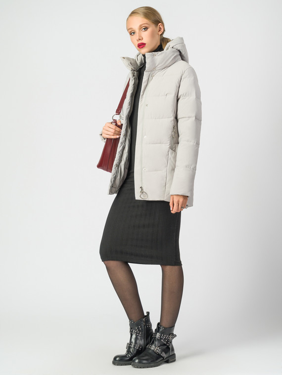 Пуховик текстиль, цвет светло-серый, арт. 14006486  - цена 6630 руб.  - магазин TOTOGROUP