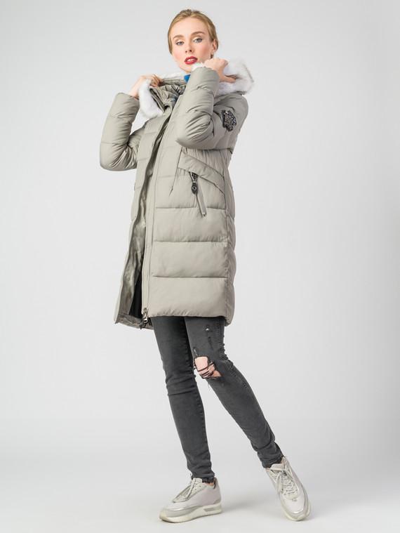 Пуховик текстиль, цвет светло-серый, арт. 14006492  - цена 4990 руб.  - магазин TOTOGROUP