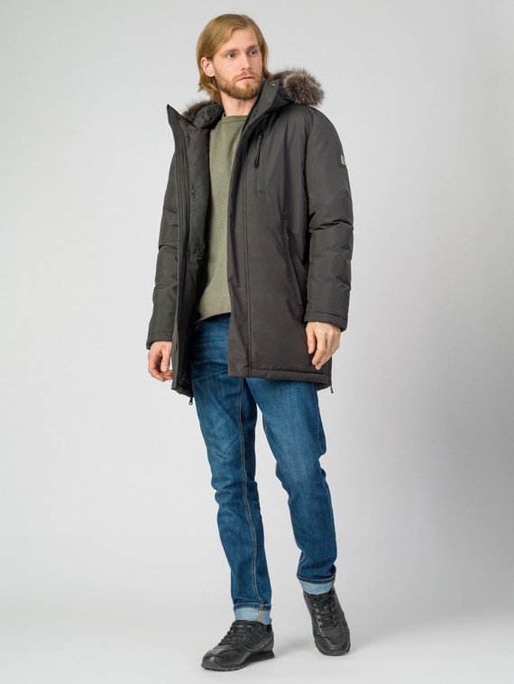 Пуховик текстиль, цвет серый, арт. 14006504  - цена 9990 руб.  - магазин TOTOGROUP