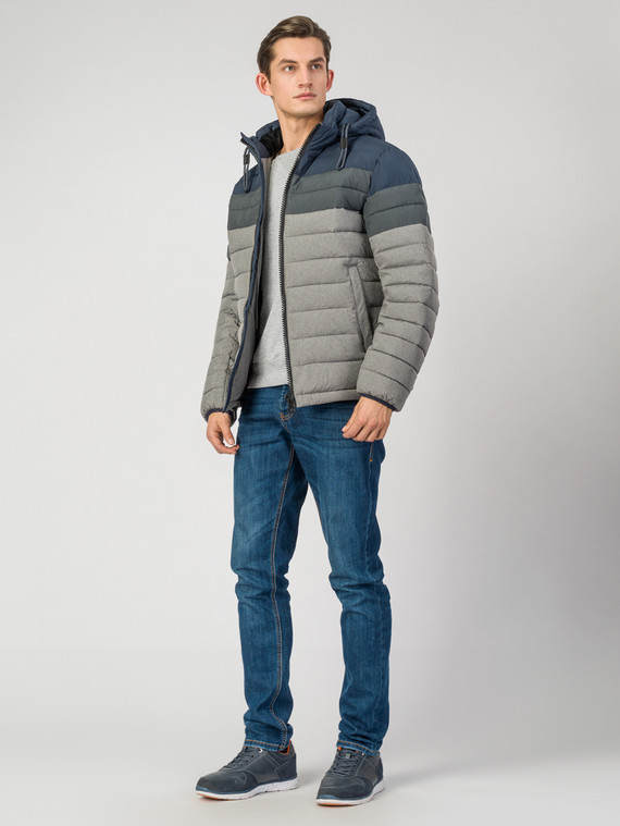 Пуховик текстиль, цвет серый, арт. 14006514  - цена 7490 руб.  - магазин TOTOGROUP