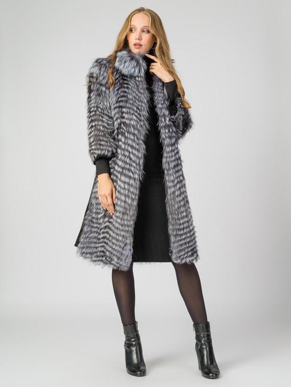 Шуба из чернобурки мех чернобурка, цвет серый, арт. 14006562  - цена 44990 руб.  - магазин TOTOGROUP