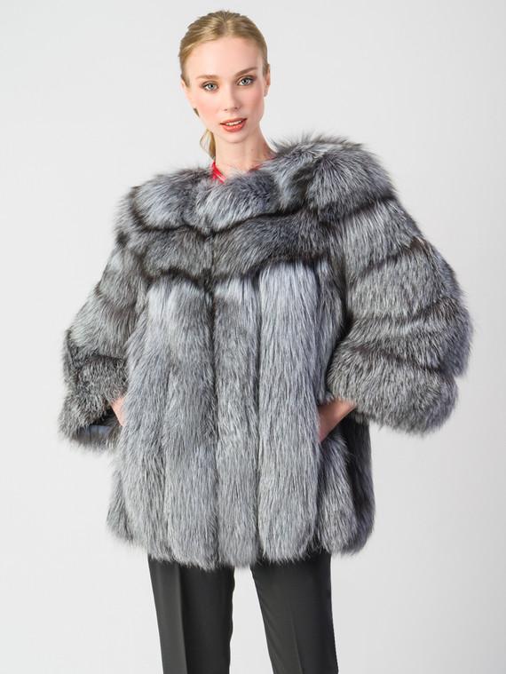 Шуба из чернобурки мех чернобурка, цвет серый, арт. 14006567  - цена 52990 руб.  - магазин TOTOGROUP