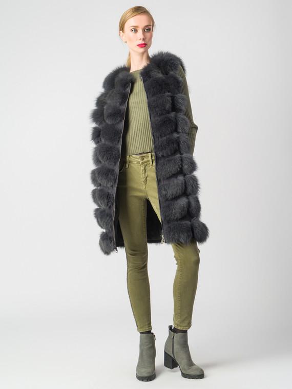 Меховой жилет мех песец, цвет темно-серый, арт. 14006597  - цена 22690 руб.  - магазин TOTOGROUP