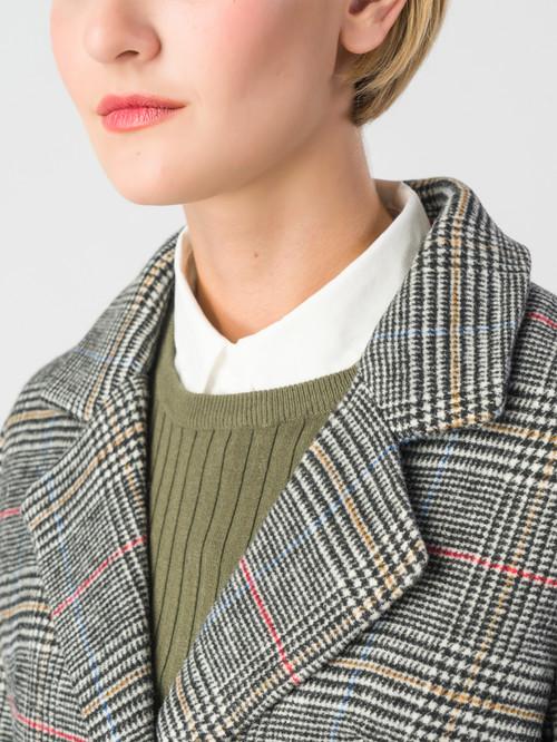 Текстильное пальто артикул 14006602/42 - фото 4