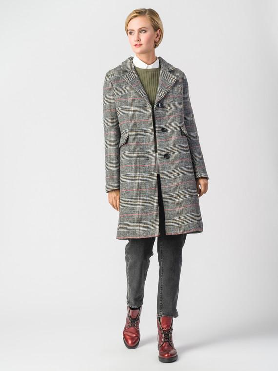 Текстильное пальто 30%шерсть, 70% п\а, цвет серый, арт. 14006602  - цена 6630 руб.  - магазин TOTOGROUP