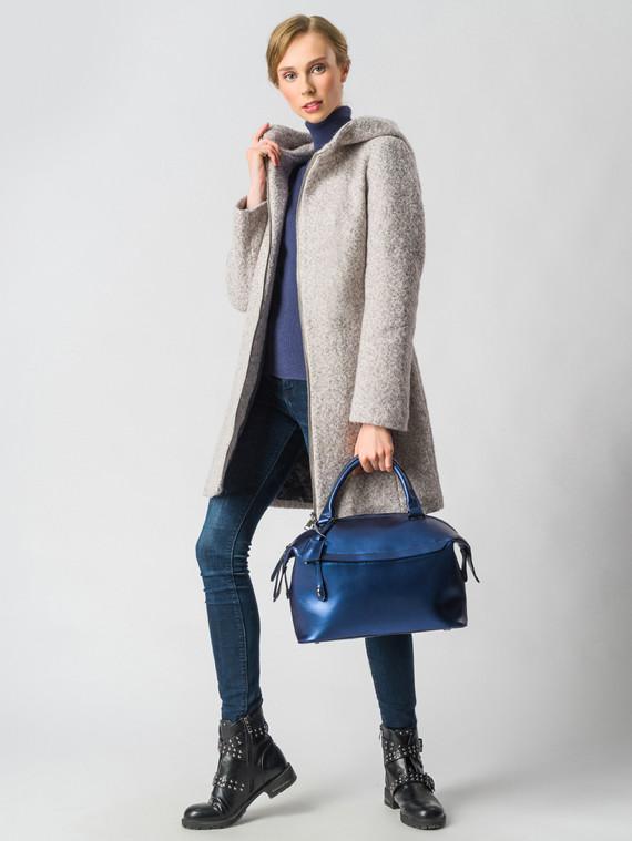 Текстильное пальто 30%шерсть, 70% п\а, цвет светло-бежевый, арт. 14006604  - цена 7490 руб.  - магазин TOTOGROUP