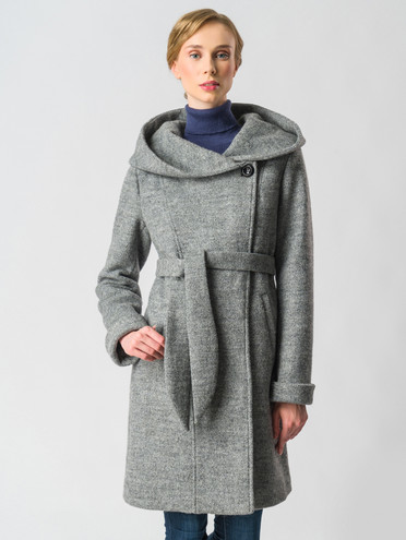 Текстильное пальто 30%шерсть, 70% п\а, цвет светло-серый, арт. 14006605  - цена 7490 руб.  - магазин TOTOGROUP
