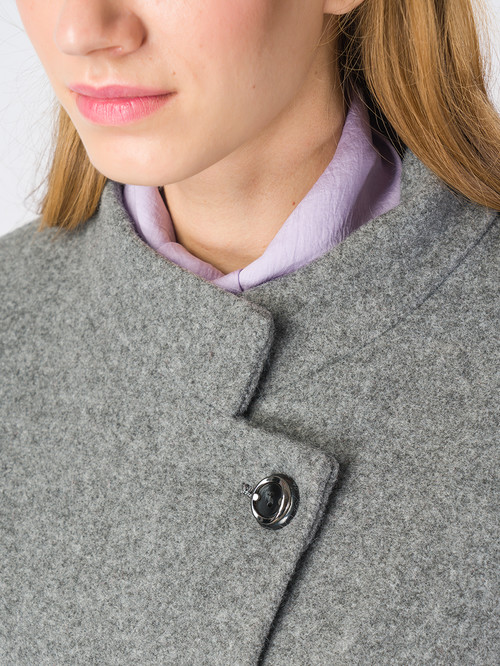 Текстильное пальто артикул 14006607/42 - фото 4