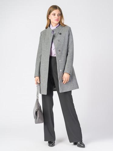 Текстильное пальто 30%шерсть, 70% п\а, цвет серый, арт. 14006607  - цена 7990 руб.  - магазин TOTOGROUP
