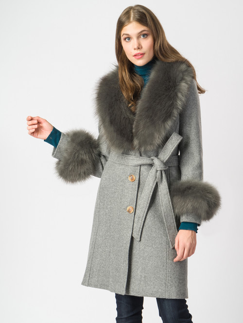 Текстильное пальто артикул 14006821/44 - фото 2