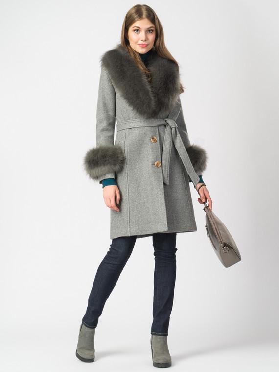 Текстильное пальто 30%шерсть, 70% п.э, цвет серый, арт. 14006821  - цена 4990 руб.  - магазин TOTOGROUP