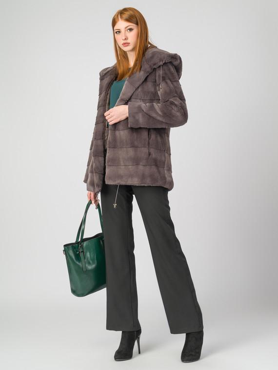 Шуба под кролика мех под кролика, цвет светло-коричневый, арт. 14006829  - цена 12690 руб.  - магазин TOTOGROUP