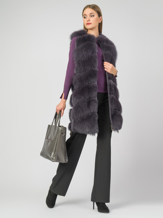 Меховой жилет мех песец, цвет фиолетовый, арт. 14006874  - цена 21290 руб.  - магазин TOTOGROUP