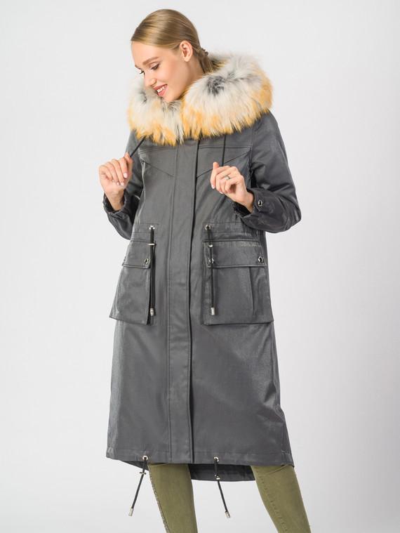 Парка текстиль, цвет серый, арт. 14007059  - цена 35990 руб.  - магазин TOTOGROUP