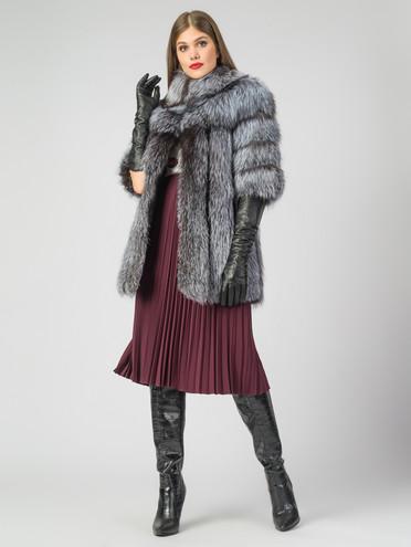 Шуба из чернобурки мех чернобурка, цвет серый, арт. 14007063  - цена 42490 руб.  - магазин TOTOGROUP