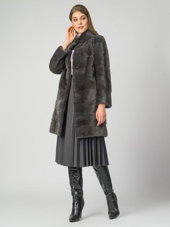 Шуба из норки мех норка, цвет серый, арт. 14007087  - цена 99990 руб.  - магазин TOTOGROUP