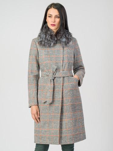 Текстильное пальто 30%шерсть, 70% п\а, цвет серый, арт. 14007105  - цена 5890 руб.  - магазин TOTOGROUP