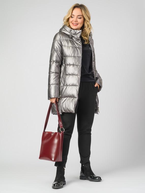 Кожаное пальто эко-кожа 100% П/А, цвет металлик, арт. 14007120  - цена 9490 руб.  - магазин TOTOGROUP