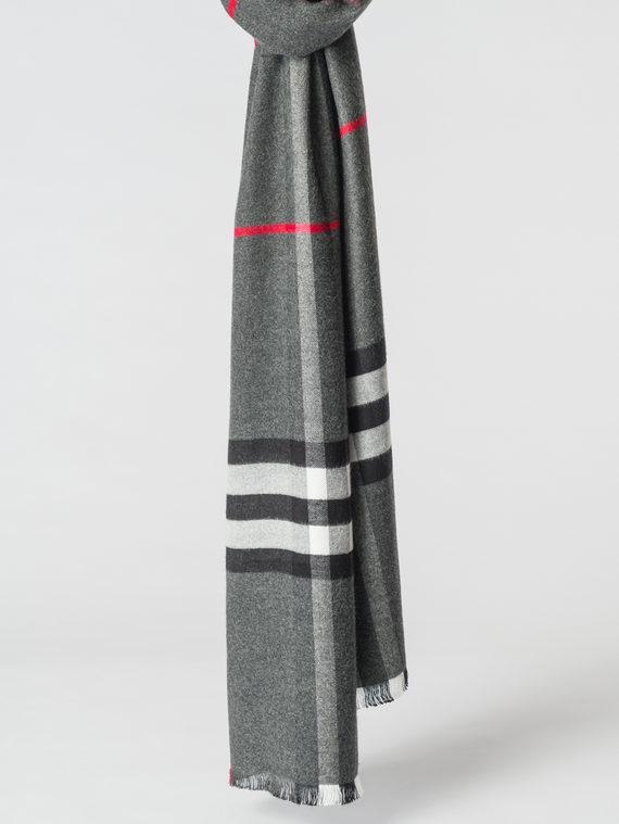 Шарф 100% кашемир, цвет серый, арт. 14007163  - цена 1130 руб.  - магазин TOTOGROUP