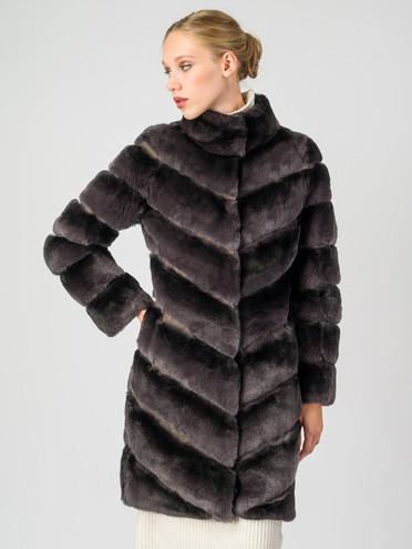 Шуба из кролика мех кролик, цвет серый, арт. 14007224  - цена 39990 руб.  - магазин TOTOGROUP