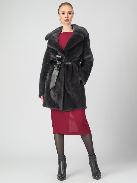 Шуба из норки мех норка, цвет темно-серый, арт. 14007230  - цена 139990 руб.  - магазин TOTOGROUP