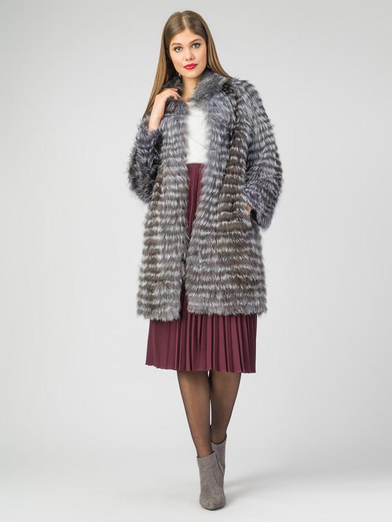 Шуба из чернобурки мех чернобурка, цвет серый, арт. 14007297  - цена 25590 руб.  - магазин TOTOGROUP