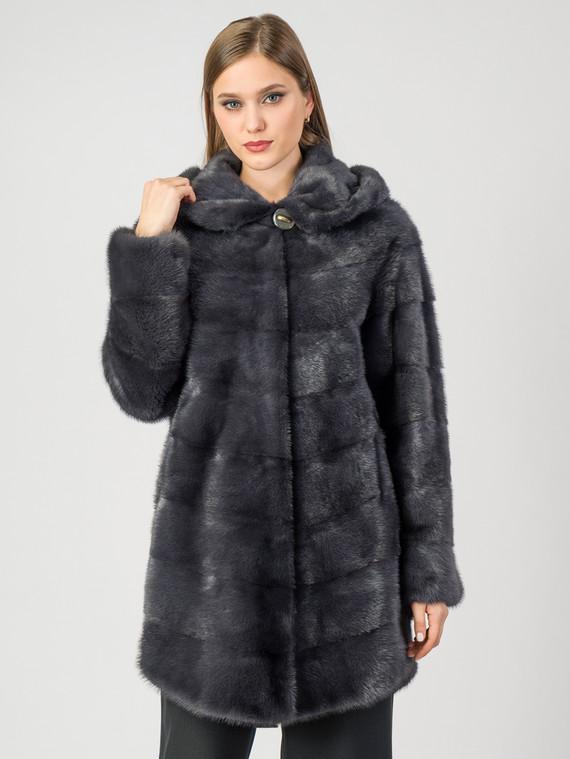 Шуба из норки мех норка, цвет серый, арт. 14007470  - цена 105990 руб.  - магазин TOTOGROUP