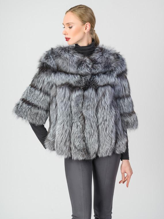 Шуба из чернобурки мех чернобурка, цвет серый, арт. 14007484  - цена 25590 руб.  - магазин TOTOGROUP