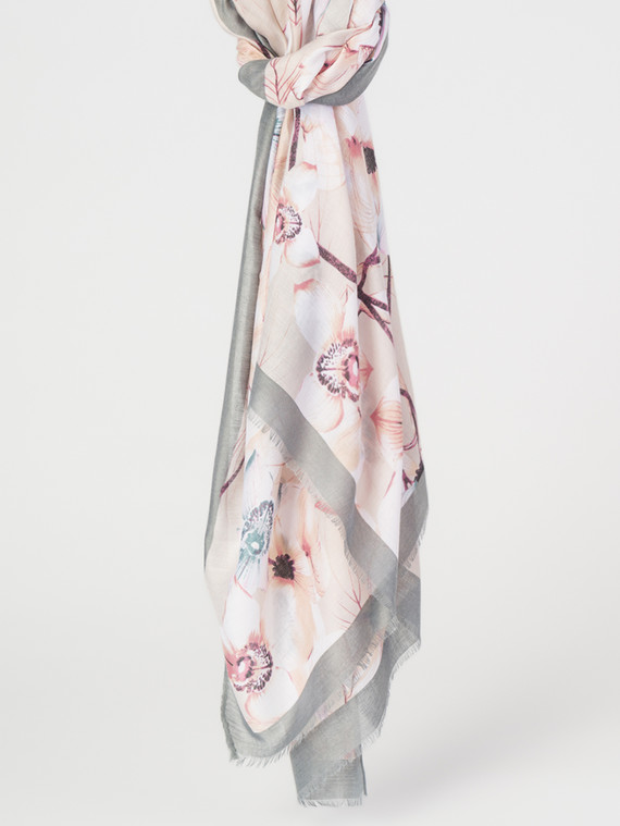 Шарф 30%бамбук,70%хлопок, цвет серый, арт. 14007675  - цена 940 руб.  - магазин TOTOGROUP
