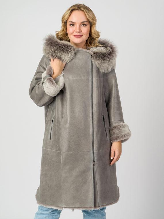 Дубленка дуб. овчина, цвет серый, арт. 14007694  - цена 33990 руб.  - магазин TOTOGROUP