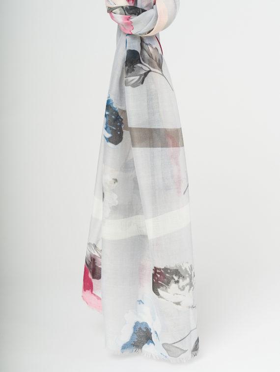 Шарф 50%хлопок,50%вискоза, цвет серый, арт. 14107799  - цена 890 руб.  - магазин TOTOGROUP
