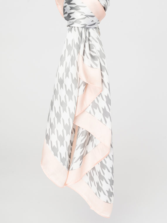 Шарф 100% полиэстер, цвет серый, арт. 14107804  - цена 790 руб.  - магазин TOTOGROUP