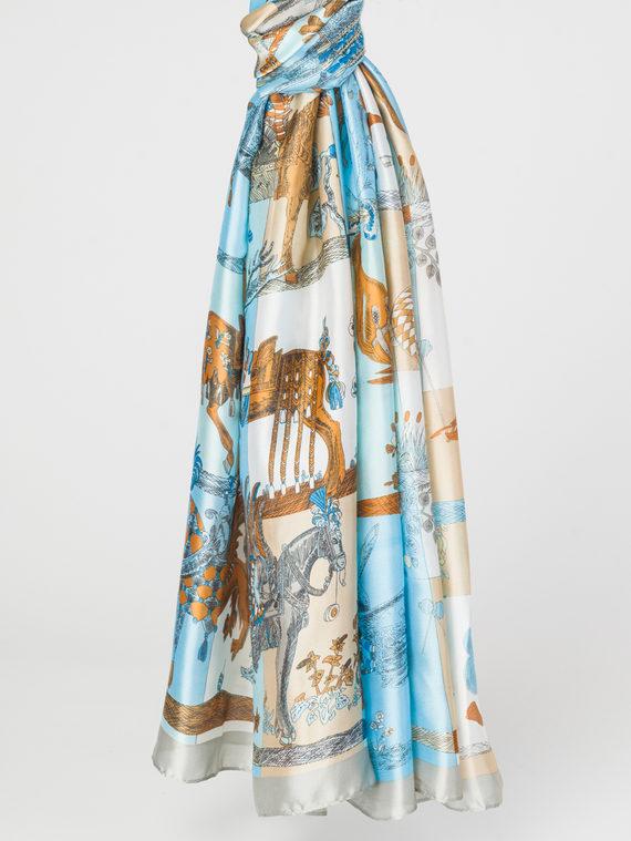 Шарф 100% шелк, цвет серый, арт. 14107808  - цена 940 руб.  - магазин TOTOGROUP