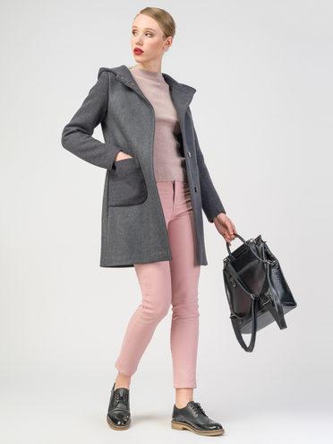 Текстильное пальто 30%шерсть, 70% п.э, цвет темно-серый, арт. 14108077  - цена 3590 руб.  - магазин TOTOGROUP