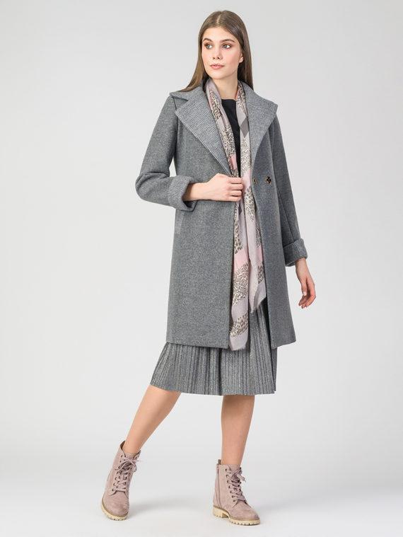 Текстильное пальто 30%шерсть, 70% п.э, цвет серый, арт. 14108102  - цена 5590 руб.  - магазин TOTOGROUP