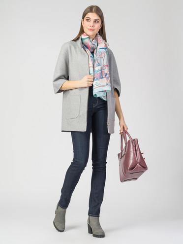 Текстильная куртка 30%шерсть, 70% п\а, цвет светло-серый, арт. 14108106  - цена 3790 руб.  - магазин TOTOGROUP