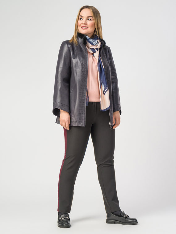 Кожаная куртка эко-замша 100% П/А, цвет фиолетовый, арт. 14108115  - цена 9490 руб.  - магазин TOTOGROUP