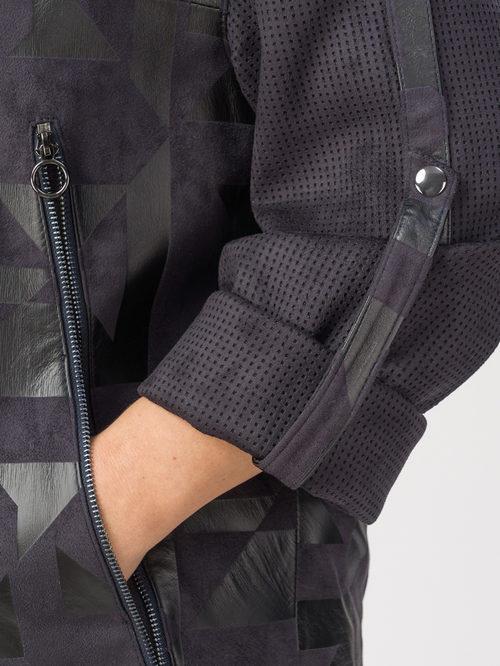 Кожаная куртка артикул 14108126/54 - фото 4