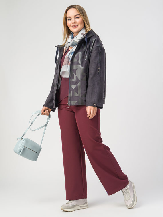 Кожаная куртка эко-замша 100% П/А, цвет фиолетовый, арт. 14108126  - цена 7990 руб.  - магазин TOTOGROUP