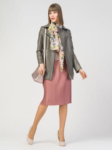 Кожаная куртка эко-кожа 100% П/А, цвет серый, арт. 14108129  - цена 4990 руб.  - магазин TOTOGROUP