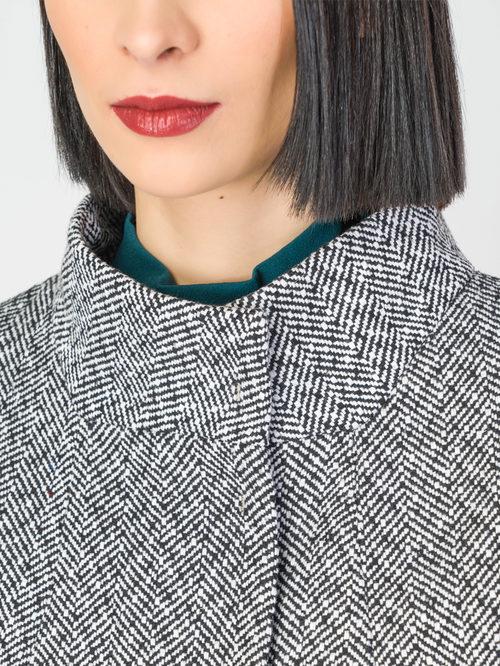 Текстильное пальто артикул 14108193/42 - фото 4